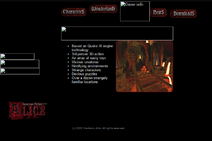 Old alice website game info page