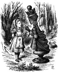 Red Queen chastises Alice