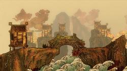 Oriental Scrolls bridge