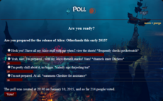 Release of Alice Otherlands poll