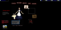 Old alice website main page