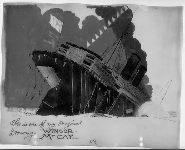 File:The Sinking of the Lusitania (Winsor McCay, signed cel).jpg
