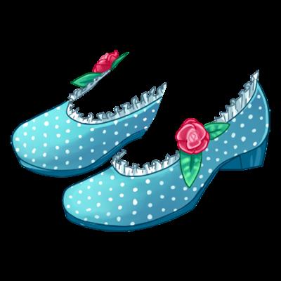 Sapatilha Rosa e Azul