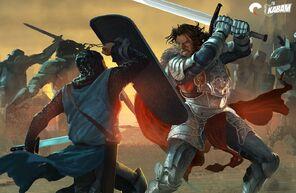 Thornos in battle
