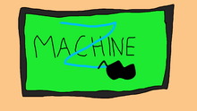 Z Machine on TV Screen