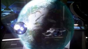 Wikia Andromeda - Simulation of Andromeda destroying Phrynia's moon