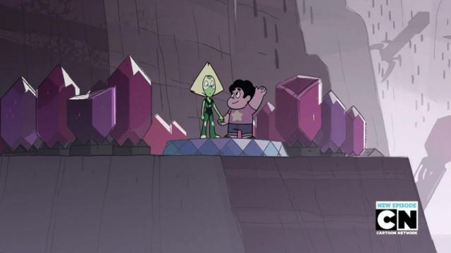 File:Peridot and Steven At The Kindergarten.png