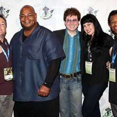 Richard with Kevin Michael Richardson, Quinton Flynn, Grey DeLisle-Griffin, and Phil LaMarr at the 2013 Emerald City Comicon.