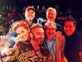 Rob Paulsen with Judith Hoag, Townsend Coleman, Cam Clarke, Barry Gordon, & Kevin Eastman.jpg - Alamo City Con 2014.jpg
