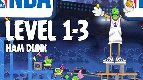 Angry Birds Seasons Ham Dunk 1-3 Walkthrough 3 Star