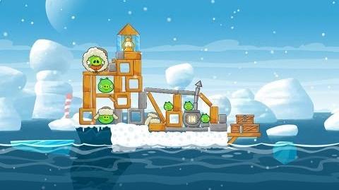 Angry Birds Seasons Arctic Eggspedition 1-5 Walkthrough 3 Star