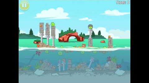 Angry Birds Seasons Piglantis Golden Egg 35 Walkthrough 2012