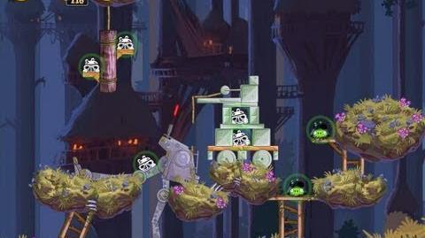 Angry Birds Star Wars 5-11 Moon of Endor 3 Star Walkthrough
