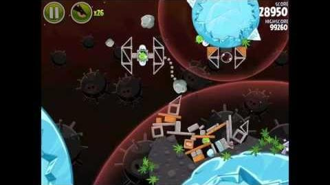 Angry Birds Space Danger Zone Level 13 Walkthrough 3 Star