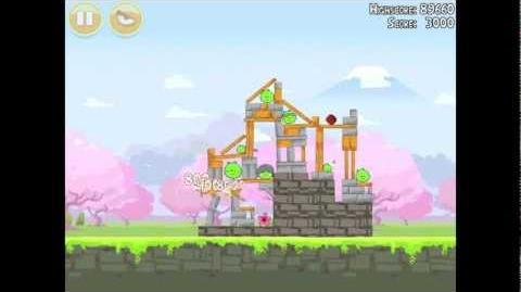 Angry Birds Seasons Cherry Blossom 1-5 Walkthrough 2012 3 Star