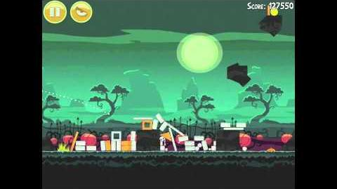 Angry Birds Seasons Ham'o'ween 2-2 Halloween 2012 Hamoween Walkthrough 3 Star