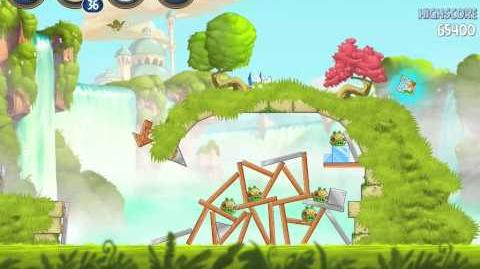 Angry Birds Star Wars 2 Naboo Invasion B1-12 Treasure Map Walkthrough