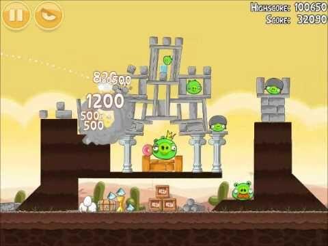 Official Angry Birds Walkthrough Poached Eggs 3-21