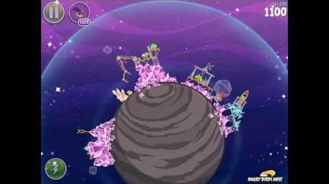 Angry Birds Space Cosmic Crystals 7-24 Walkthrough 3 Star
