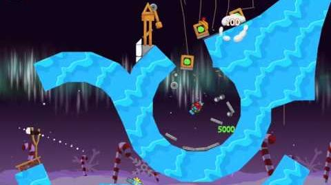 Angry Birds Seasons Winter Wonderham Golden Egg 41 Walkthrough 2013