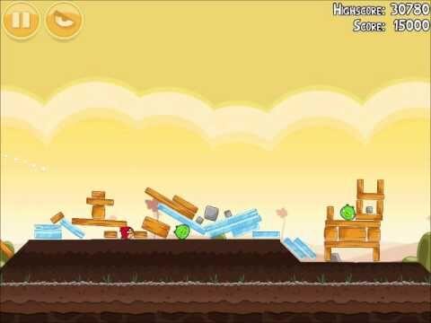 Official Angry Birds Walkthrough Poached Eggs 3-4