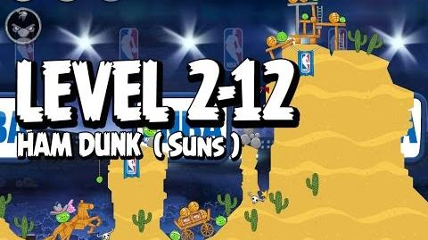 Angry Birds Seasons Ham Dunk 2-12 - Suns - Walkthrough 3 Star