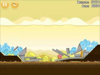 Official Angry Birds Walkthrough Mighty Hoax 5-13