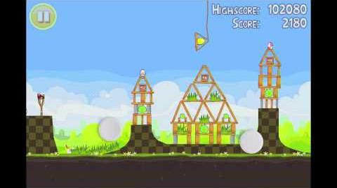 Angry Birds Seasons Easter Eggs Golden Egg 18 Walkthrough