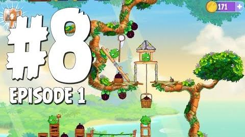 Angry Birds Stella Level 8 Walkthrough Branch Out Episode 1