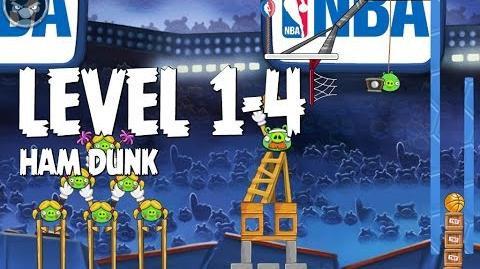 Angry Birds Seasons Ham Dunk 1-4 Walkthrough 3 Star