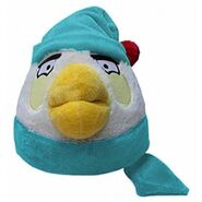Angry birds winter white bird