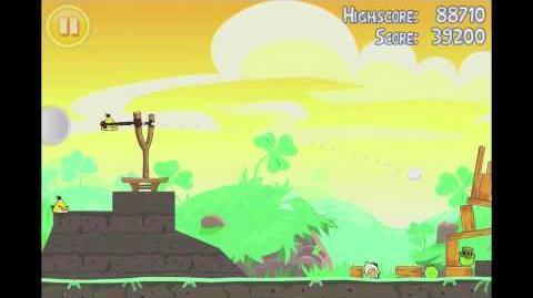 Angry Birds Seasons Go Green, Get Lucky 3 Star Walkthrough Level 11