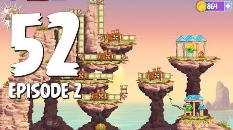 Angry Birds Stella Level 52 Episode 2 Beach Day Walkthrough
