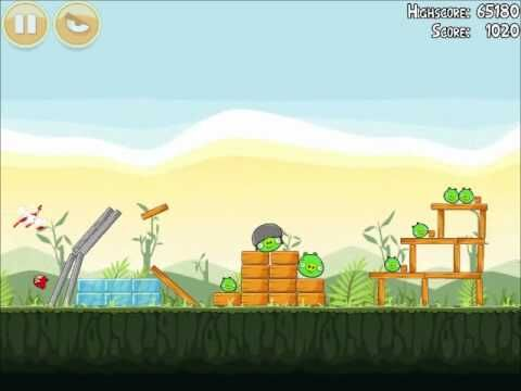 Official Angry Birds Walkthrough Poached Eggs 2-1