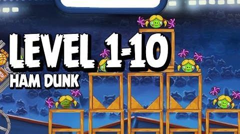 Angry Birds Seasons Ham Dunk 1-10 Walkthrough 3 Star