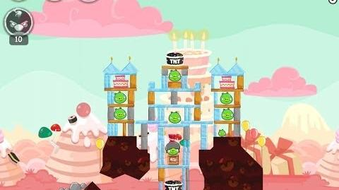 Angry Birds Birdday Party Cake 4 Level 15 Walkthrough 3 Star