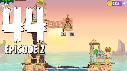 Angry Birds Stella Level 44 Episode 2 Beach Day Walkthrough