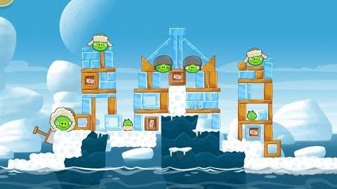 Angry Birds Seasons Arctic Eggspedition 1-16 Walkthrough 3 Star
