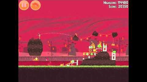 Angry Birds Seasons Year of the Dragon Golden Egg 31 Walkthrough 2012