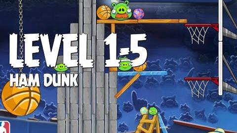 Angry Birds Seasons Ham Dunk 1-5 Walkthrough 3 Star