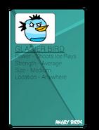 Angry Birds Glacier Bird Trading Card