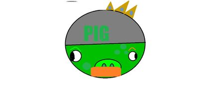 KING PIG MOUSTACE PIG HELMET PIG FAT PIG = ARMORED PIG