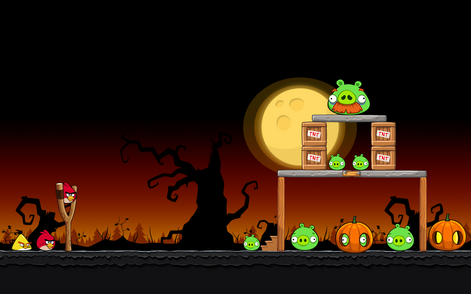 Angry Birds Seasons - Level 4-2 - Trick or Treat II