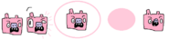 Pink Ice Pig Sprites