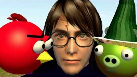 Harry Potter ♫ Deathly Hallows ☺ 3D animated ANGRY BIRDS edition