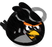 Black Goggle Bird Sketch