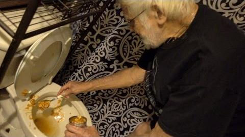 ANGRY GRANDPA EATS OUT OF THE TOILET!! (VOMIT ALERT)