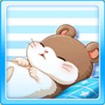 Sleeping hamster - Brown