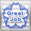 Great Job Stamp Blue x10