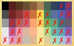 Acceptable colorss